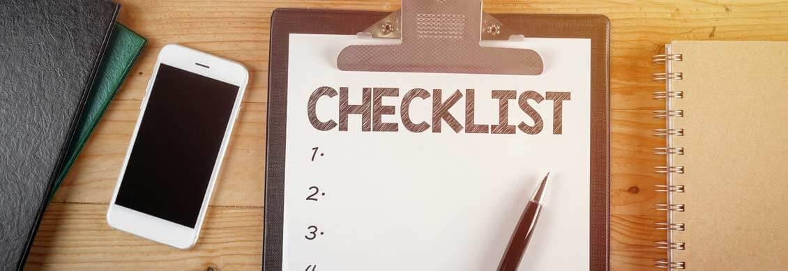 Checklist site web pour webmaster
