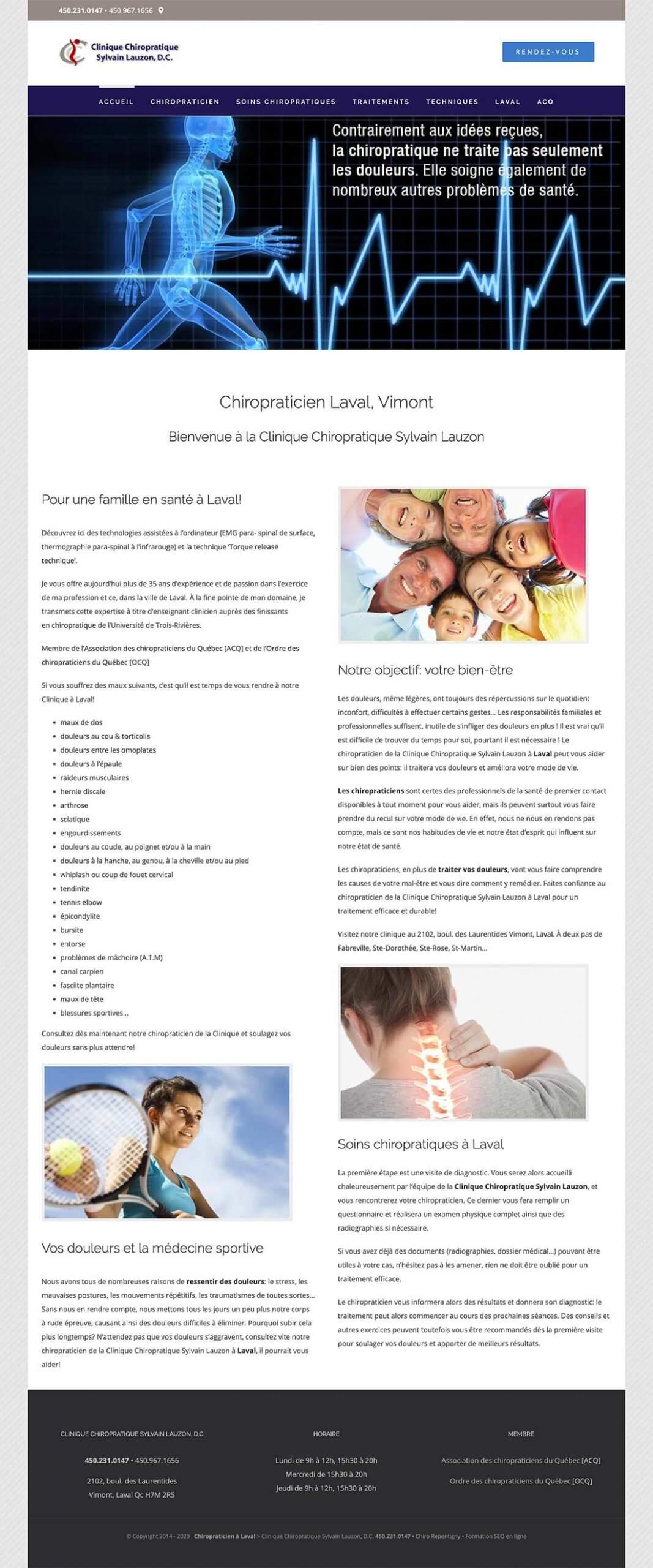 Clinique chiropratique à Laval