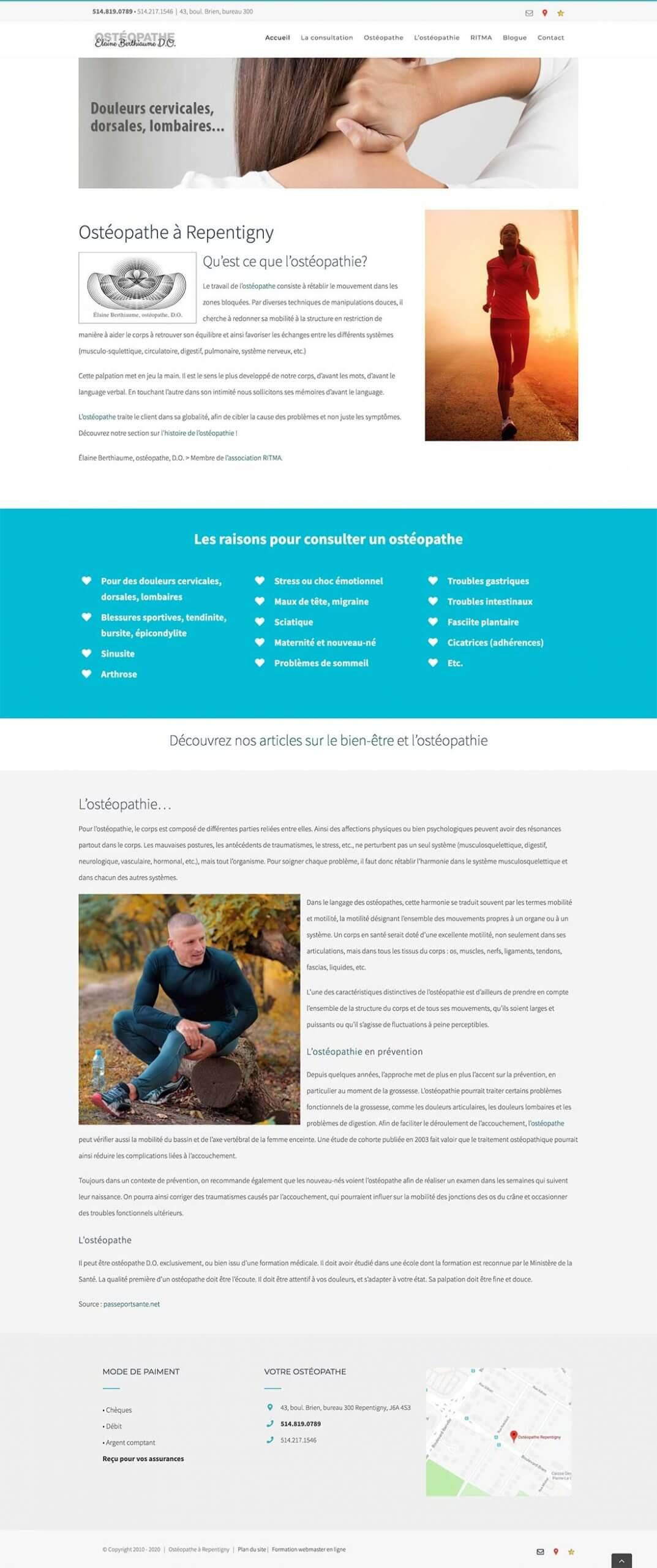 Ostéopathe - Certifié SEO PRO