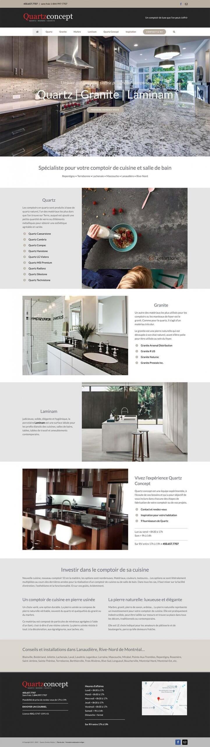 Quartz Concept - site web certifié SEO-PRO