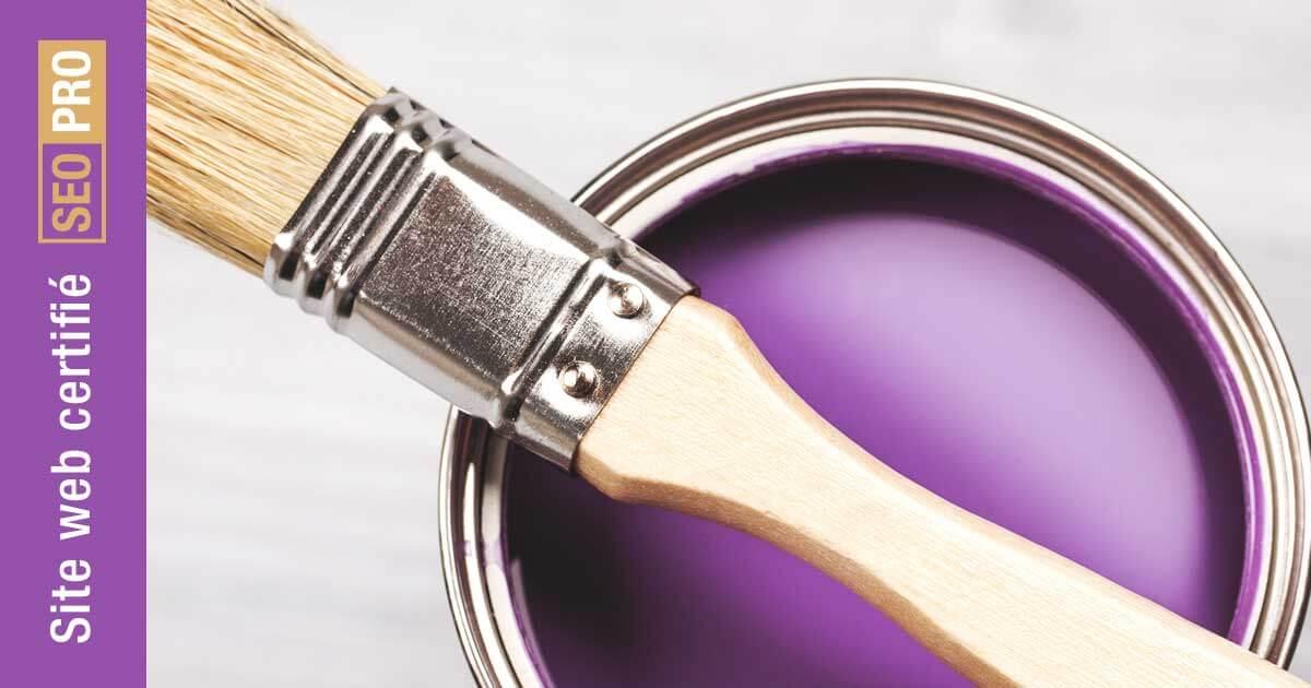 Peintre en bâtiment - site web certifié SEO-PRO